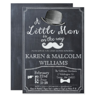 Little Man Lil Man Baby Shower Invitation