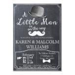 Little Man Lil Man Baby Shower Invitation 5x7