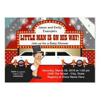 Little Man Limousine Movie Star Baby Shower Card