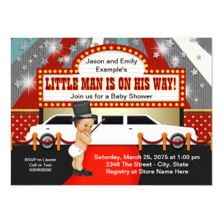 Little Man Limousine Movie Star Baby Shower Card