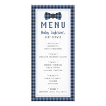 Little Man Menu Card, Baby Shower
