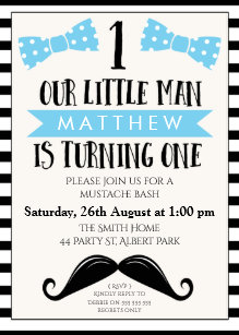 Mustache 1st birthday invitations zazzle little man mustache 1st birthday invitation filmwisefo