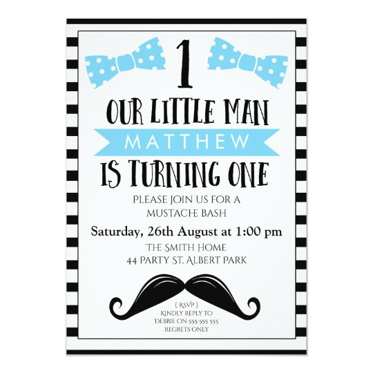 Little man mustache 1st birthday invitation zazzle little man mustache 1st birthday invitation filmwisefo