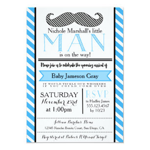 Mustache baby shower invitations zazzle little man mustache baby shower invitation filmwisefo