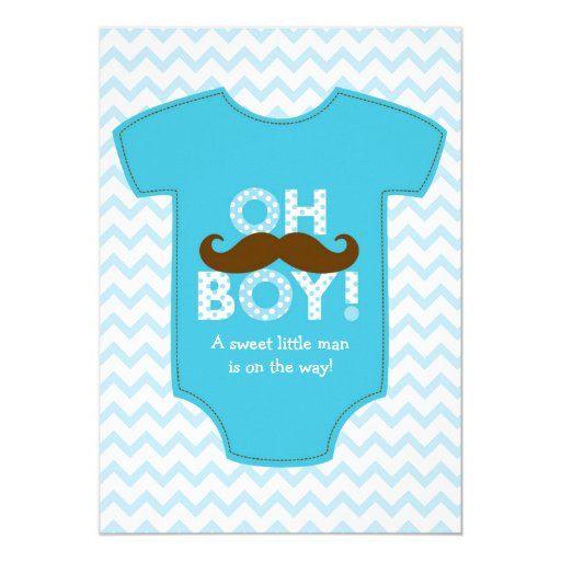 little man mustache baby shower invitations zazzle