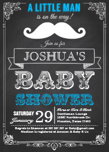 Mustache baby shower invitations announcements zazzle little man mustache bash baby shower invitation filmwisefo