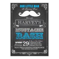 Little Man Mustache Bash Birthday Invitation