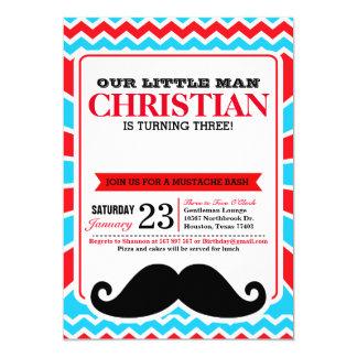 Little Man Mustache Bash Birthday Party Invitation