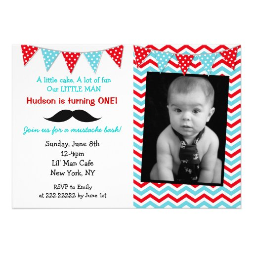 Personalized Mustache Birthday Invitations Custominvitations4u Com