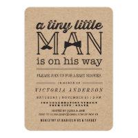 Little Man Mustache Bow Tie Boy Baby Shower Invite