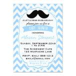Little Man Mustache chevron Baby Shower invitation