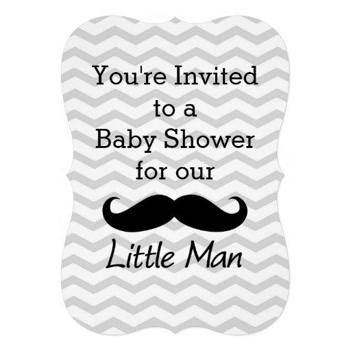 little man baby shower invitations chevron little man baby shower