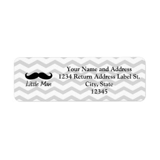Little Man Mustache Chevron Cute Boys Custom Return Address Labels