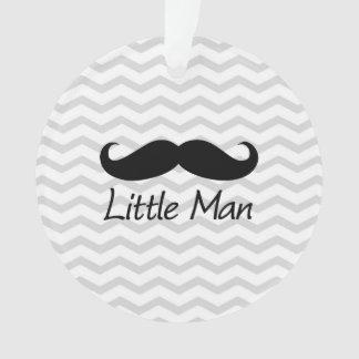 Little Man Mustache Chevron Cute Boys Ornament
