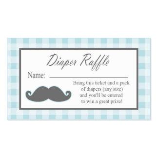 Little Man Mustache Diaper Raffle Ticket Business Card