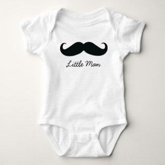 Little Man Mustache Infant Creeper, White Baby Bodysuit