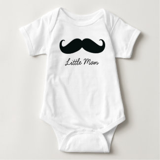 Little Man Mustache Infant Creeper, White Baby Bodysuit