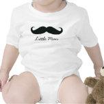 Little Man Mustache Infant Creeper, White Baby Creeper