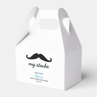 Little Man, Mustache theme Favor Box