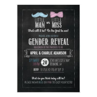Little Man or Little Miss? Gender Reveal Invitation