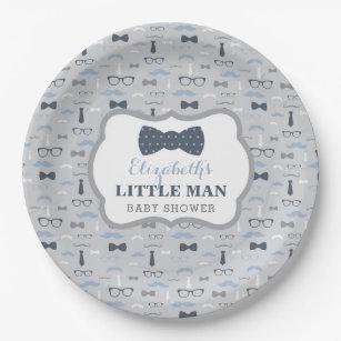 Little Man Paper Plate Navy Gray Paper Plate  sc 1 st  Zazzle & Little Man Plates | Zazzle
