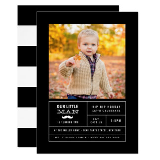 Little Man Photo Birthday Card