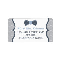 Little Man Return Address Label, Blue and Gray Label