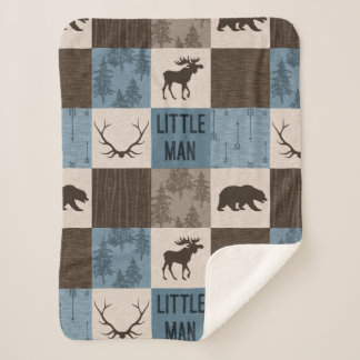 Little Man Rustic Minky Sherpa Blanket
