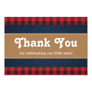 Little Man Thank You Card, Lumberjack Card