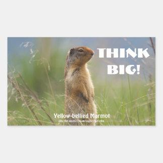 Little Marmot Wildlife THINK BIG Motivational Sticker