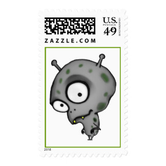 Little Martian Postage Stamps Postage Stamps