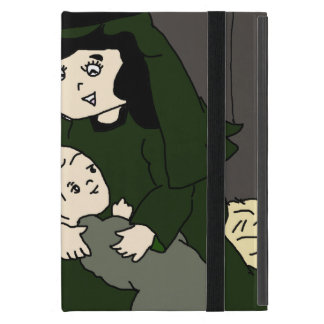 Little Mary and Baby Jesus in Green Cover For iPad Mini