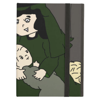 Little Mary and Baby Jesus in Green iPad Air Case