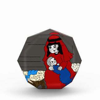 Little Mary and Baby Jesus in Red Award