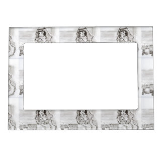 Little Mary and Baby Jesus - sketch Magnetic Photo Frame