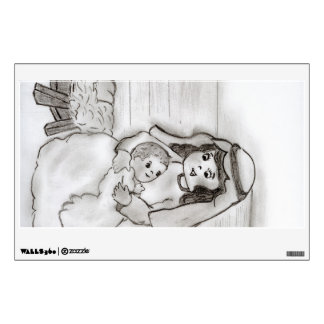 Little Mary and Baby Jesus Wall Sticker