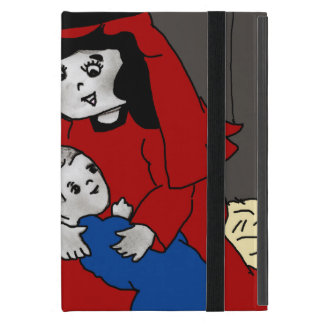 Little Mary and Jesus in Red and Blue iPad Mini Cover