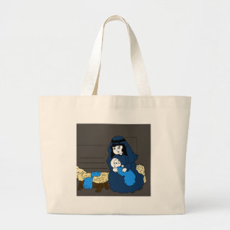 Little Mary and Jesus Large Tote Bag