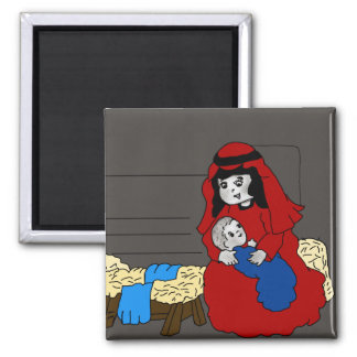Little Mary and Jesus Magnet