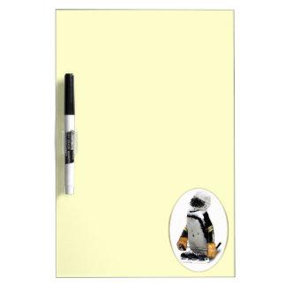 Little Mascot Hockey Player Penguin Dry-Erase Whiteboards