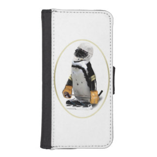 Little Mascot Hockey Player Penguin iPhone SE/5/5s Wallet Case