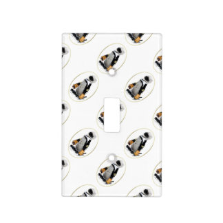 Little Mascot Hockey Player Penguin Switch Plate Cover