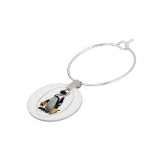 Little Mascot Hockey Player Penguin Wine Charm
