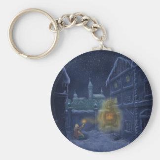 little matchstick girl winter fairytale keychain