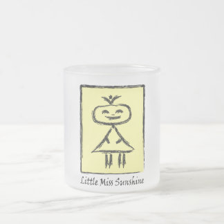 Little measure Sunshine cup 10 Oz Frosted Glass Coffee Mug