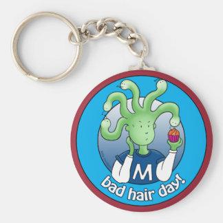 Little Medusa. Bad Hair Day! Basic Round Button Keychain
