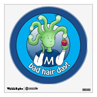 Little Medusa. Bad Hair Day! Wall Decal