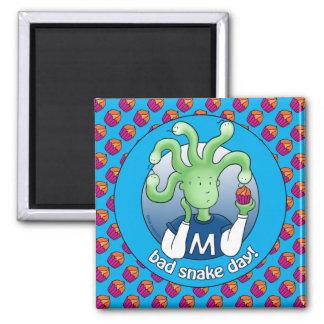 Little Medusa. Bad snake day! Magnets