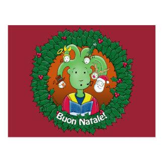 Little Medusa. Buon Natale. Postcard
