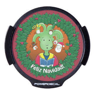 Little Medusa. Feliz Navidad! LED Window Decal